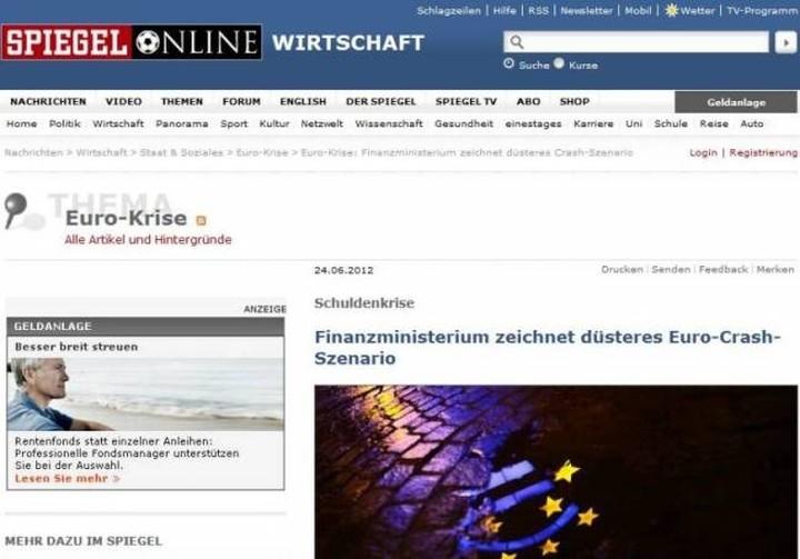«Σκοτεινό» σενάριο κατάρρευσης του ευρώ από το γερμανικό ΥΠΟΙΚ