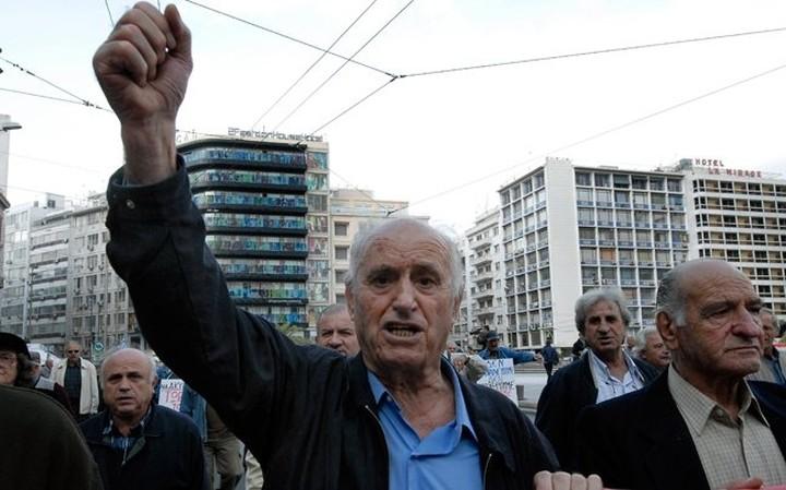 Διαμαρτυρία συνταξιούχων για τις περικοπές