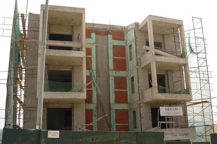 Πτώση 20,8% στην οικοδομή τον Απρίλιο