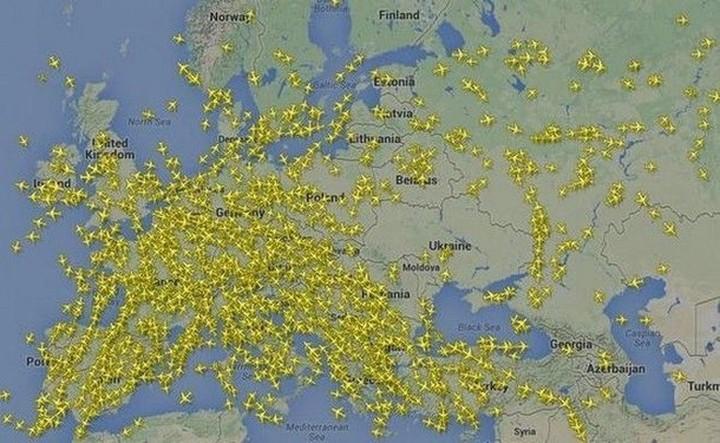 """Εναέριος """"αποκλεισμός"""" από μεγάλες αεροπορικές εταιρείες προς την Ουκρανία"""