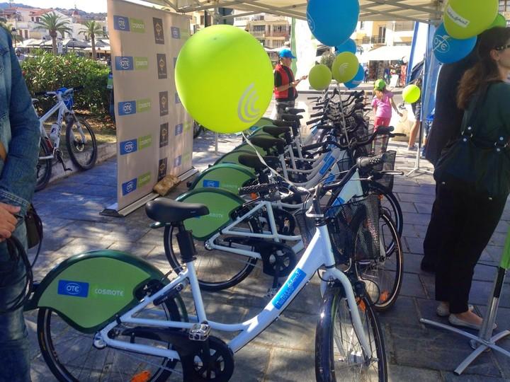 Στο Ρέθυμνο οι «Ποδηλατοδράσεις» του ΟΤΕ και της Cosmote με το σύστημα Bike Sharing