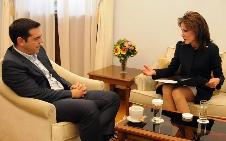 Για το Clinton Global Initiative η επίσκεψη Αγγελοπούλου στον Αλ. Τσίπρα