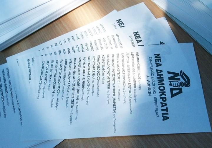 Αυτά είναι τα ψηφοδέλτια της Νέας Δημοκρατίας