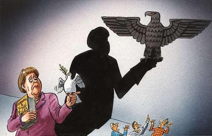 Γελοιογραφία του Economist συνδέει την Μέρκελ με τους Ναζί