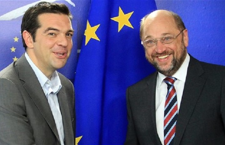 O Σουλτς προειδοποιεί τον Τσίπρα να μην σπάσει τη γραμμή της ΕΕ απέναντι στη Ρωσία
