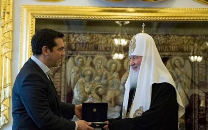 Ο Αλέξης Τσίπρας συναντήθηκε με τον Πατριάρχη Μόσχας και Πάσης Ρωσίας Κύριλλο