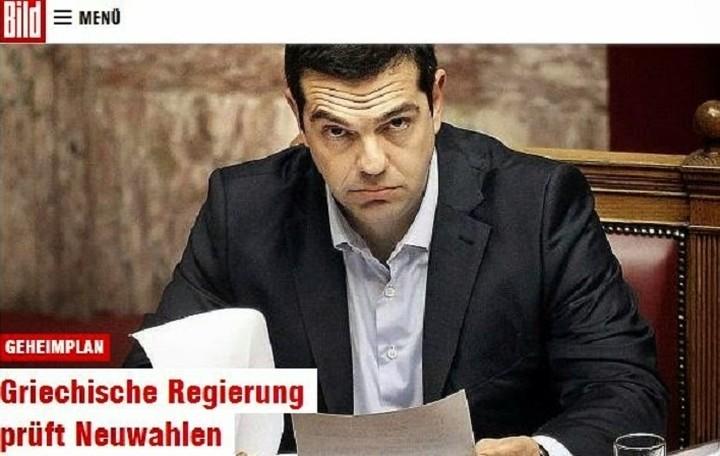 Bild: Αν γίνουν νέες εκλογές η επανεκλογή του ΣΥΡΙΖΑ θα οδηγήσει σε Grexit
