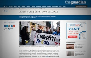 Guardian:«Η Αθήνα οδηγείται πιο κοντά σε Grexit»