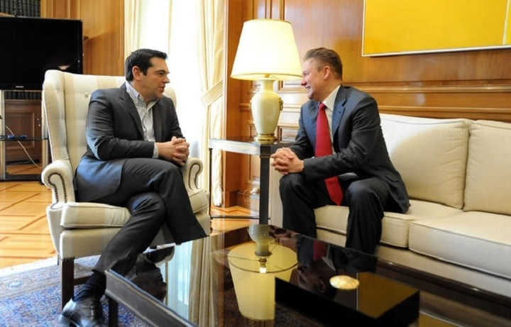Ολοκληρώθηκε η συνάντηση Αλ.Τσίπρα με τον επικεφαλή της Gazprom Α. Μίλερ