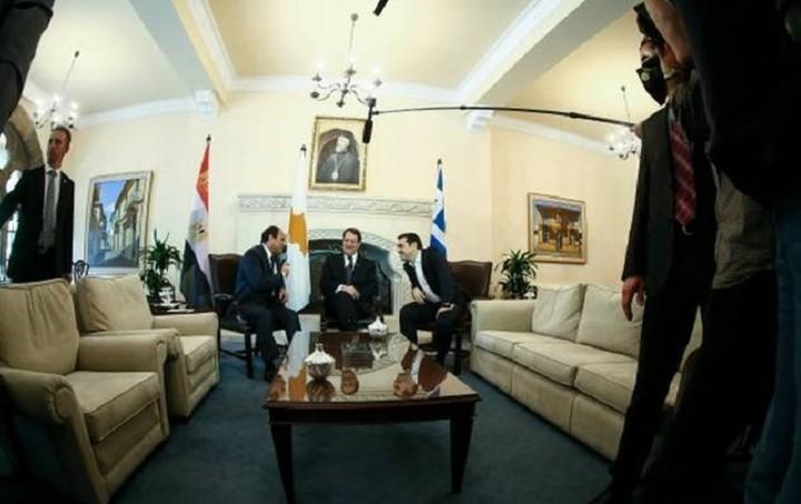 Τσίπρας-Αναστασιάδης-Φατάχ Αλ Σίσι: Μεγάλης σημασίας η συνεργασία ανάμεσα σε Ελλάδα,Κύπρο και Αίγυπτο