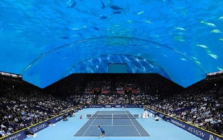 Tο πρώτο υποβρύχιο γήπεδο τένις στον κόσμο (Εικόνες)