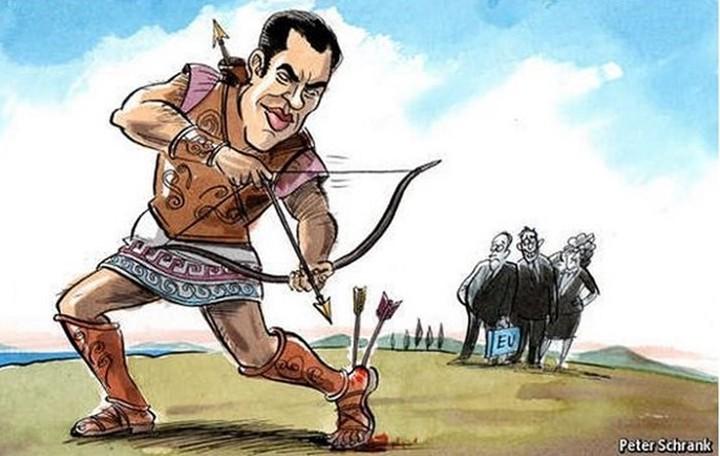 Εconomist: Ο Τσίπρας ως Αχιλλέας καρφώνει βέλη στην «αχίλλειο πτέρνα» του