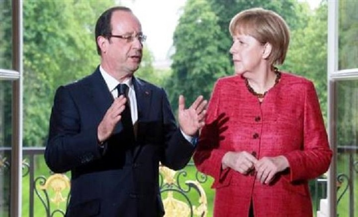 Μέρκελ και Ολάντ ζητoύν επιτάχυνση διαπραγματεύσεων και συμφωνία εντός Ιουνίου