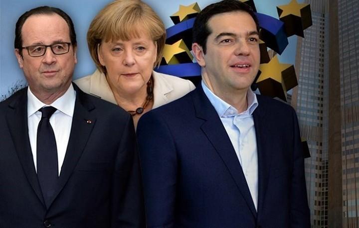 Bloomberg: Στραμμένα τα βλέμματα στη σημερινή συνάντηση Τσίπρα – Μέρκελ – Ολάντ