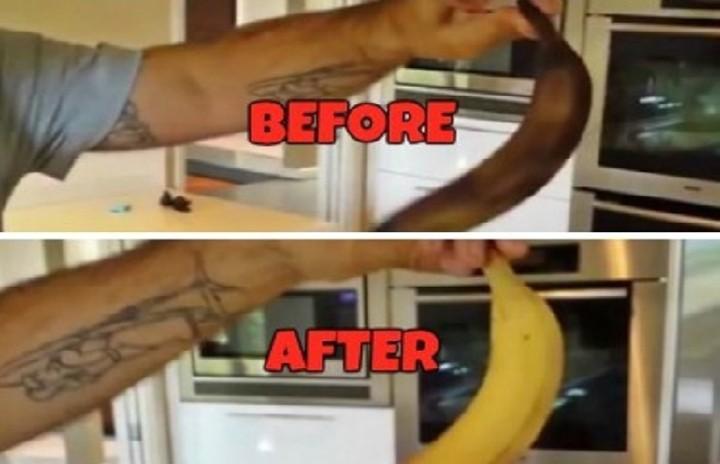 Δείτε πώς μπορείτε να... μεταμορφώσετε μια σάπια μπανάνα σε κατακίτρινη και φρέσκια!(BINTEO)