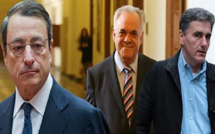 Μετά το Eurogroup η συνάντηση Δραγασάκη - Τσακαλώτου με τον Ντράγκι