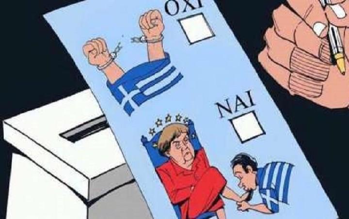 Το δημοψήφισμα μέσα από την πένα των σκιτσογράφων...