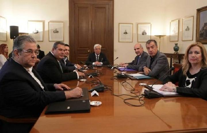 Κοινή γραμμή ακολουθούν τα πολιτικά κόμματα πριν το Eurogroup - Το κοινό ανακοινωθέν