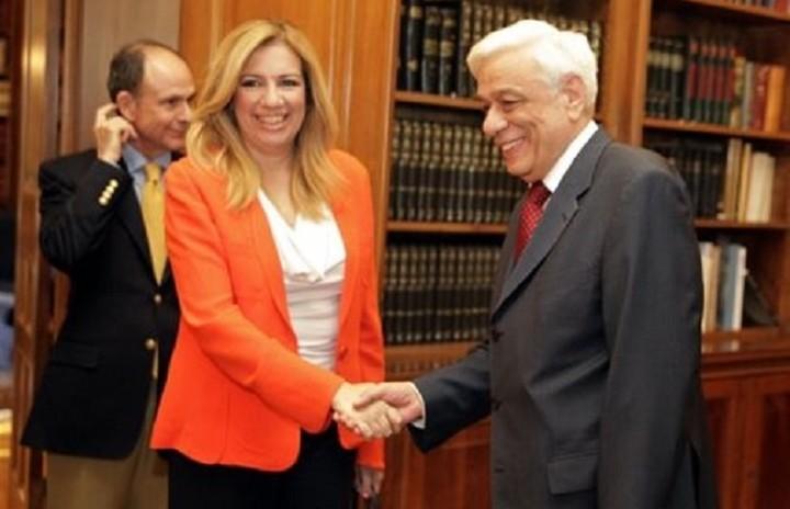 Η Φώφη Γεννηματά συναντήθηκε με τον Πρόεδρο της Δημοκρατίας
