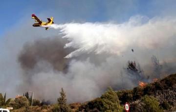 Συνεχίζεται η προσπάθεια για κατάσβεση των πυρκαγιών
