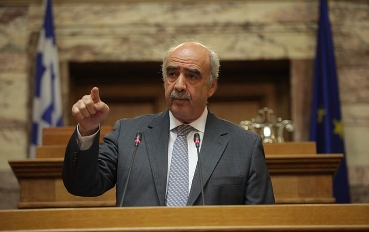Κατά των μονοκομματικών κυβερνήσεων τάχθηκε ο Μεϊμαράκης
