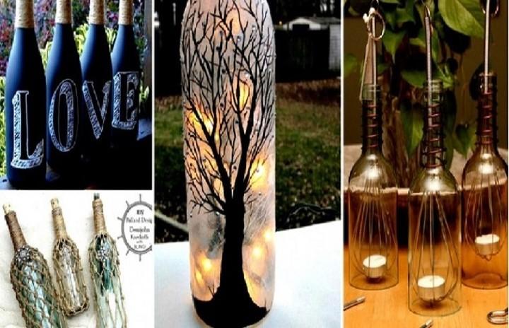 Πως θα μετατρέψετε τα παλιά μπουκάλια σε εντυπωσιακές κατασκευές