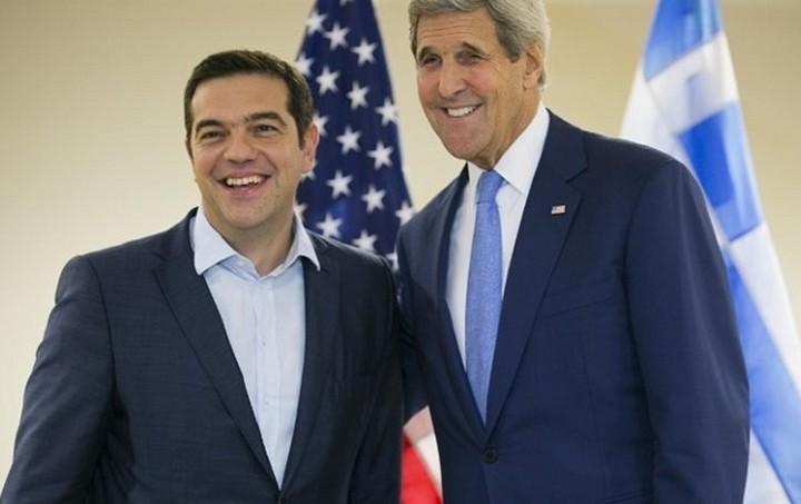 Χρέος, κυπριακό και αγωγοί στη συνάντηση Τσίπρα - Κέρι