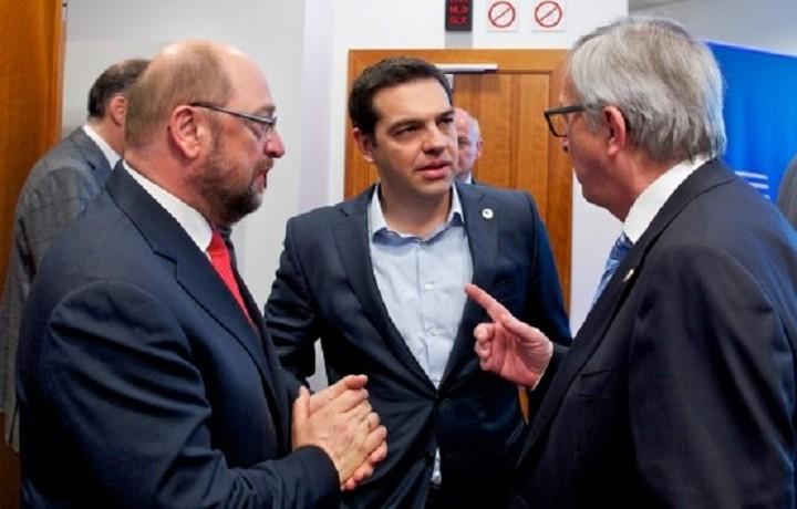 Συνάντηση Τσίπρα με Γιούνκερ και Σουλτς για το προσφυγικό - Τι συζητήθηκε