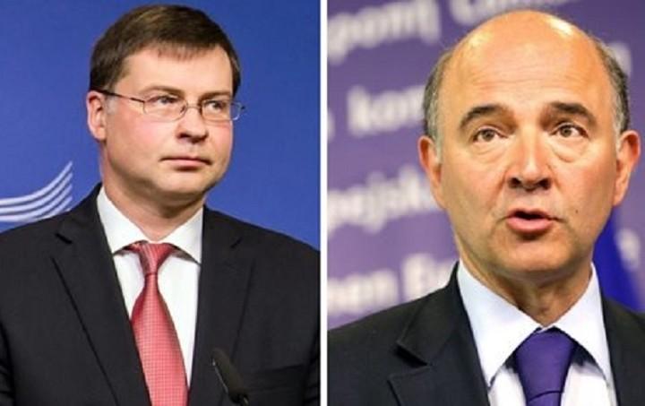 Ντομπρόβσκις- Μοσκοβισί: Yπάρχουν προυπόθεσεις ανάκαμψης στην ευρωζώνη