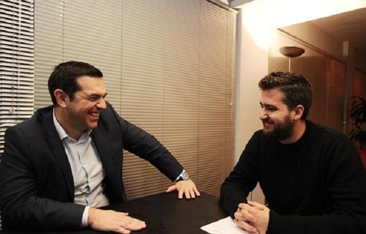 Με τον νέο γραμματέα της Νεολαίας ΣΥΡΙΖΑ συναντήθηκε ο Τσίπρας
