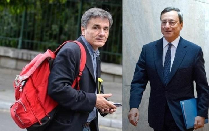 Συνάντηση Τσακαλώτου - Ντράγκι στο περιθώριο του Eurogroup
