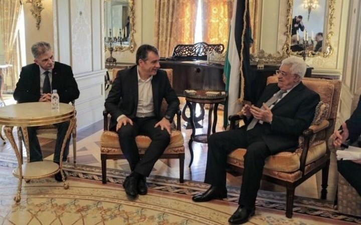Συνάντηση Θεοδωράκη με τον Παλαιστίνιο Πρόεδρο