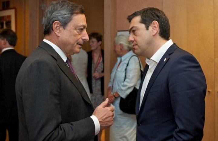 Σε ιδιαίτερα θετικό κλίμα η συνάντηση Τσίπρα – Ντράγκι