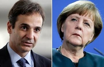 Το προσφυγικό στο επίκεντρο της συζήτησης Μητσοτάκη - Μέρκελ