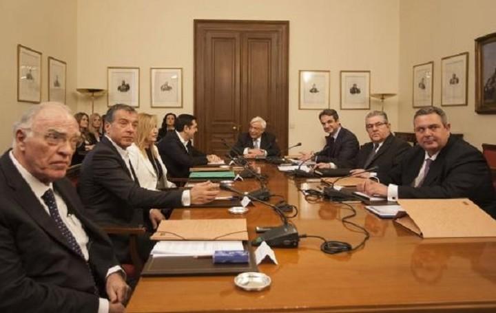 Κοινή γραμμή στο προσφυγικό αποφάσισαν οι πολιτικοί αρχηγοί