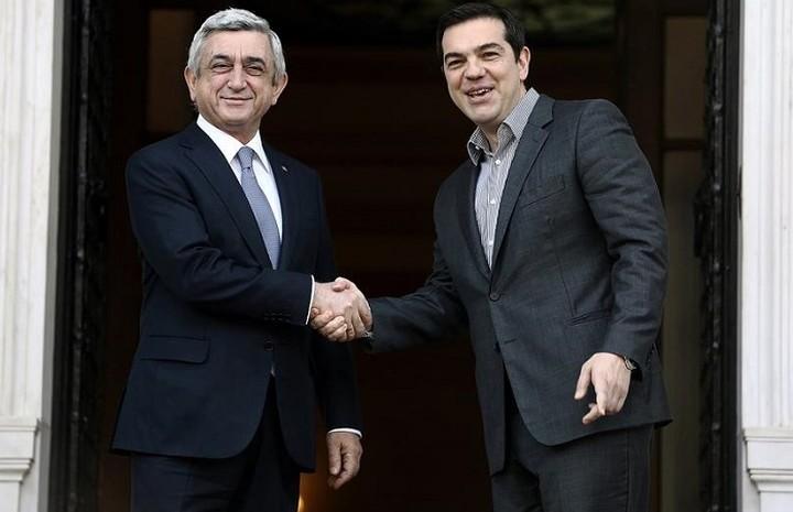 Συνάντηση του πρωθυπουργού με τον Αρμένιο Πρόεδρο