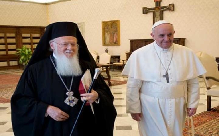Πάπας και Πατριάρχης μαζί στη Λέσβο στις 15 Απριλίου