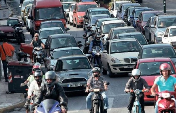 Κυκλοφοριακό έμφραγμα στην Αθήνα
