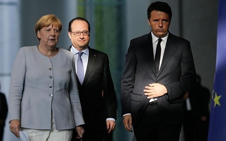Συνάντηση κορυφής Ολάντ - Μέρκελ - Ρέντσι για το Brexit