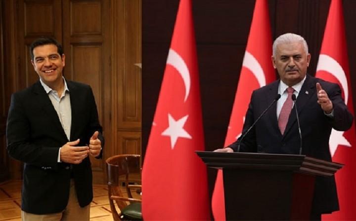 Τηλεφωνική επικοινωνία με τον Τούρκο πρωθυπουργό είχε ο Τσίπρας