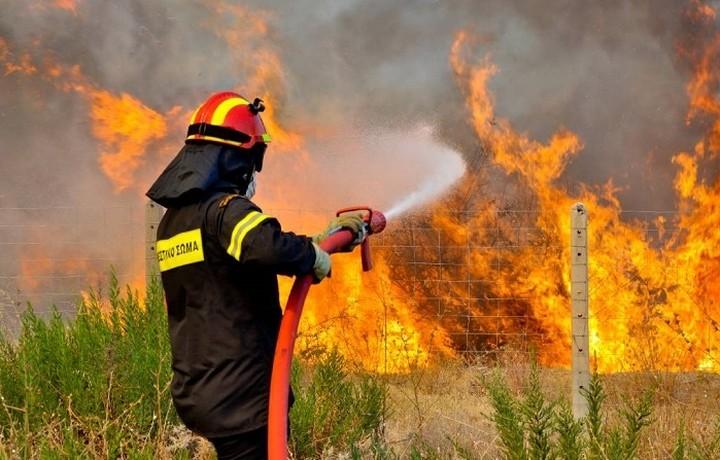 Ιδιαίτερα υψηλός ο κίνδυνος πυρκαγιάς σήμερα