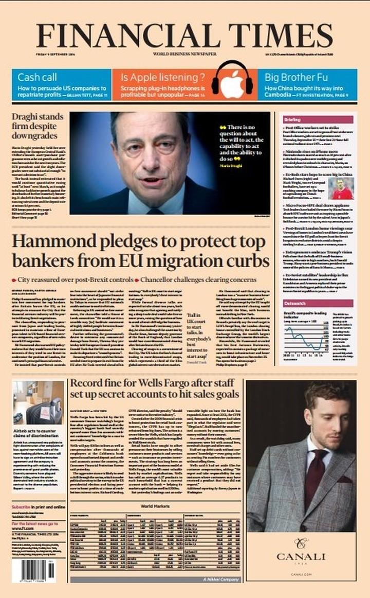 "FT: ""Ανεπαρκής"" ο Ντράγκι - Το δίλημμα της ΕΚΤ"