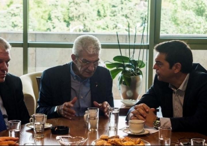 Τσίπρας-Μπουτάρης-Τζιτζικώστας γευμάτισαν μαζί στα πλαίδια της ΔΕΘ