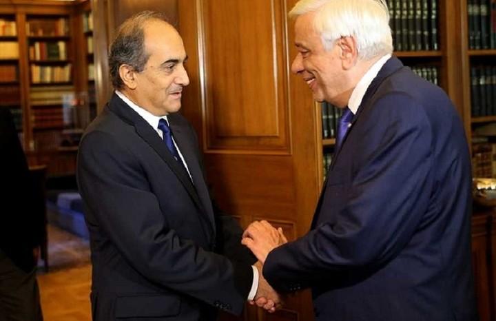 To Κυπριακό στο επίκεντρο της συνάντησης Παυλόπουλου με τον ΠτΒ της Κύπρου