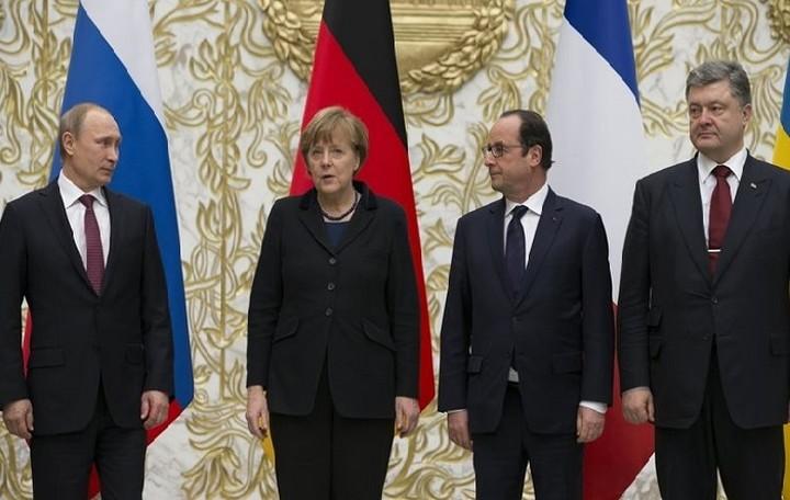 Συνάντηση Μέρκελ - Ολάντ - Πούτιν - Ποροσένκο