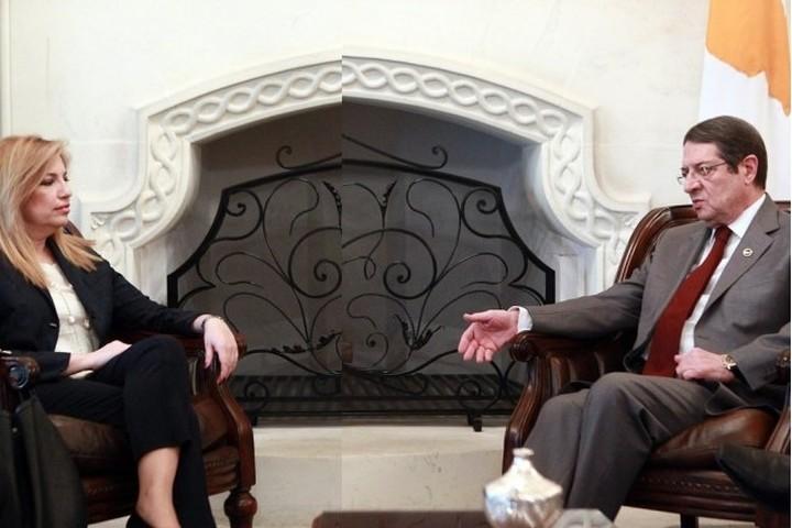 Συνάντηση Αναστασιάδη- Γεννηματά