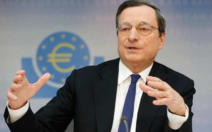 Ντράγκι: Η οικονομία της ευρωζώνης συνεχίζει να επεκτείνεται με σταθερό ρυθμό