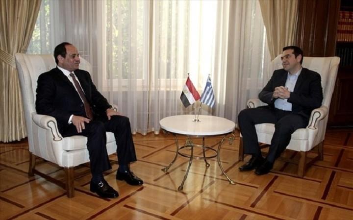 Τηλεφωνική επικοινωνία του Τσίπρα με τον Πρόεδρο της Αιγύπτου