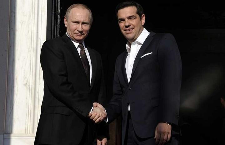 Σειρά διεθνών θεμάτων συζήτησαν Πούτιν- Τσίπρας