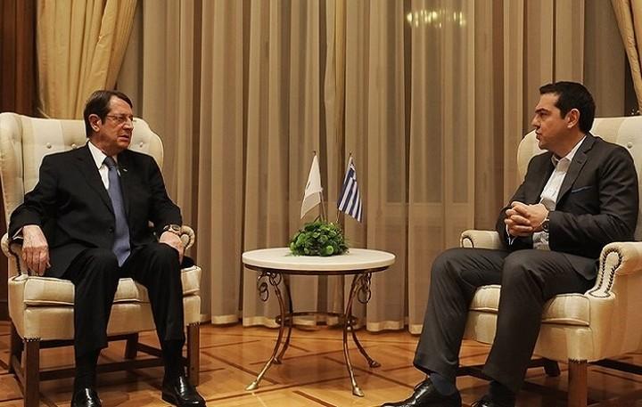 Το συντονισμό Λευκωσίας και Αθήνας συζήτησαν Τσίπρας- Αναστασιάδης